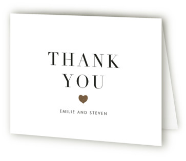 Arrow Frame Foil-Pressed Thank You Cards