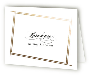 Opera Foil-Pressed Thank You Cards