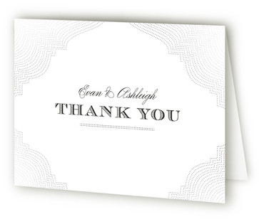 Splendorous Foil-Pressed Thank You Cards