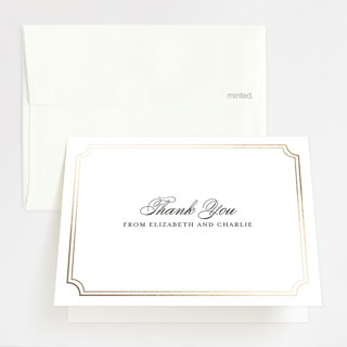Classy Type Foil-Pressed Thank You Cards