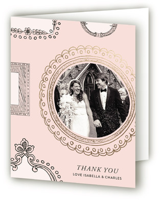 Framed Union Foil-Pressed Thank You Cards