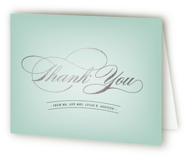 Big City - Chicago Foil-Pressed Thank You Cards