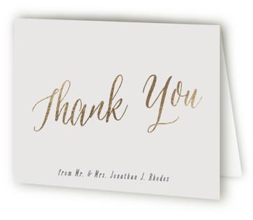 Garden Lights Foil-Pressed Thank You Cards