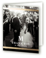 Classic Monogram Foil-Pressed Folded Thank You Card
