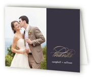 Prelude Foil-Pressed Folded Thank You Card