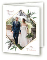 Shade Garden Foil-Pressed Folded Thank You Card