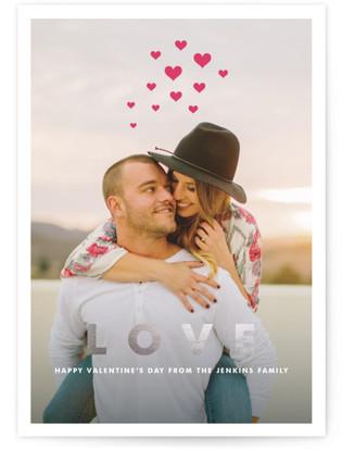 Hearts Aflutter Foil-Pressed Valentine's Day Cards