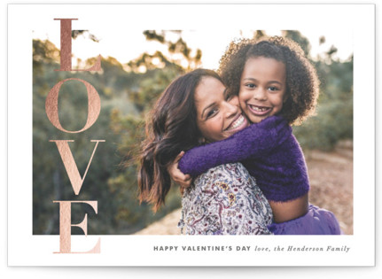 Love Banner Foil-Pressed Valentine's Day Cards