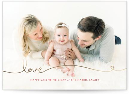 Love Line Foil-Pressed Valentine's Day Cards