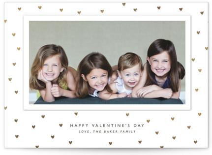 Modern Dot Foil-Pressed Valentine's Day Cards