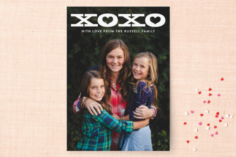 Bold XOXO Valentine's Day Cards