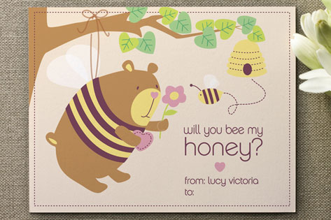 bee my honey Valentine's Day Cards