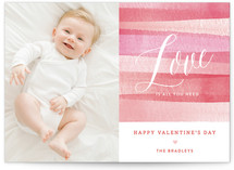 Pink Watercolor Love by Four Wet Feet Studio