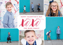 XOXO Collage Valentine's Day Cards