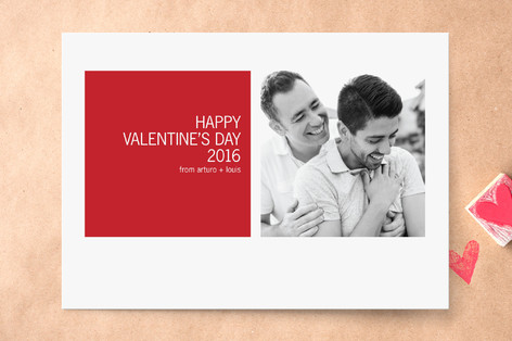 Modern Geometric Valentine's Day Cards