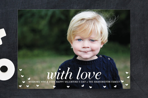 With Love Valentine's Day Postcards