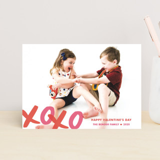 XOXO Bunting Banners Valentine's Day Postcards