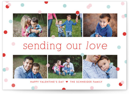 Confetti Valentine's Day Postcards