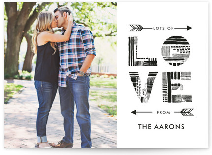 Tribal Print Love Valentine's Day Postcards