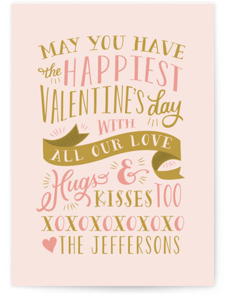 Kisses and Hugs Valentine's Day Postcards