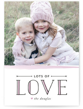 Modern Watercolor Love Valentine's Day Postcards