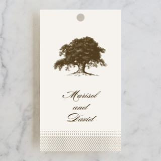 Modern Crest Wedding Favor Tags
