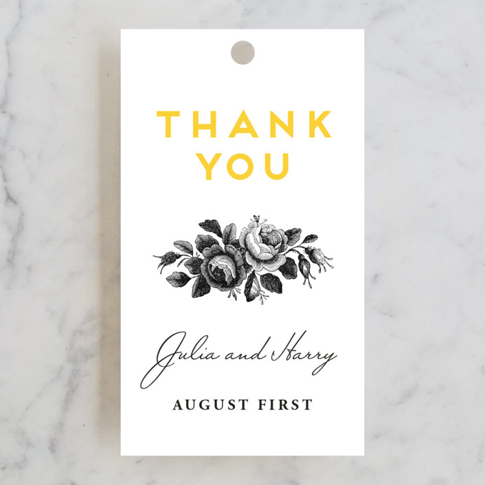 Minted Wedding Gift Tags : ... & Botanical Wedding Favor Tags in Sunflower by Chryssi Tsoupanarias