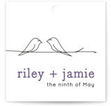 Birds of a Feather Wedding Favor Tags