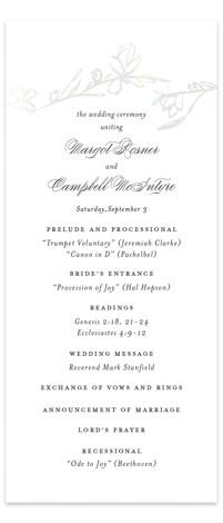Daydream Gloss Press Wedding Program