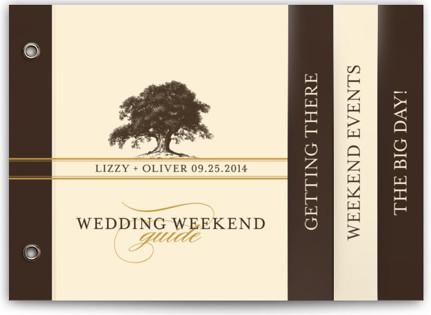 Oak Tree Wedding Announcement Minibook™ Cards