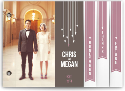 Arrows Wedding Announcement Minibooks