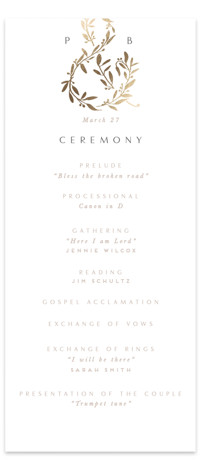 Love and Marriage Foil-Pressed Wedding Programs