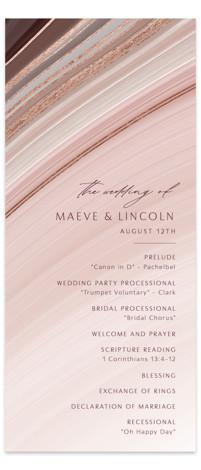 chiffon Foil-Pressed Wedding Programs