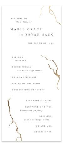 kintsugi Foil-Pressed Wedding Programs