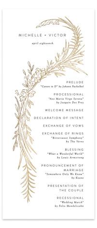 Delicate Woodland Foil-Pressed Wedding Programs