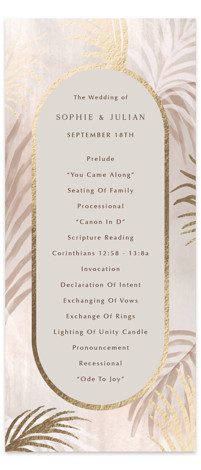 Palm Springs Foil-Pressed Wedding Programs