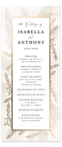 Roses & Greenery Foil-Pressed Wedding Programs