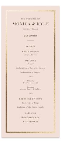 barn door Foil-Pressed Wedding Programs