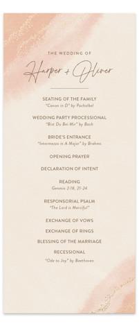 empyrean Foil-Pressed Wedding Programs