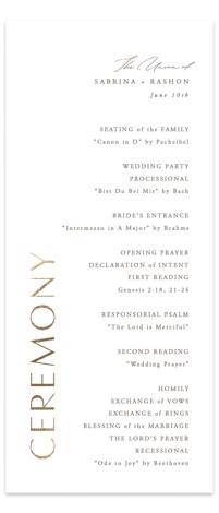 Gilded Ampersand Foil-Pressed Wedding Programs