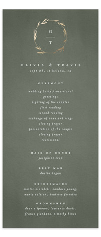 Minimal Circle Foil-Pressed Wedding Programs