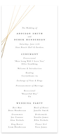 Tied Foil-Pressed Wedding Programs