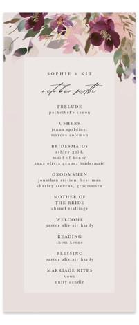 Fleur Foil-Pressed Wedding Programs