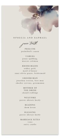 Ethereal Foil-Pressed Wedding Programs