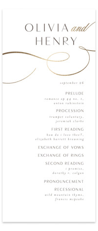Forever And Foil-Pressed Wedding Programs