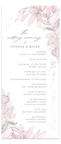 side romance Foil-Pressed Wedding Programs