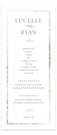 Inlay Foil-Pressed Wedding Programs