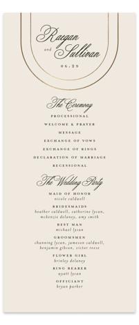 Full Circle Foil-Pressed Wedding Programs