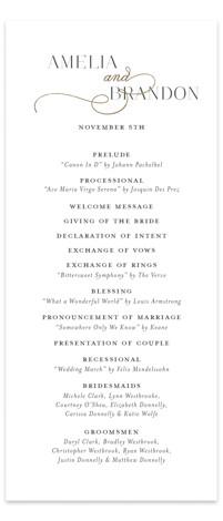 Elegant Flourish Foil-Pressed Wedding Programs