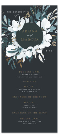 Romance Foil-Pressed Wedding Programs